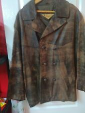 Men's XL Leather Jacket Vintage Brown Vgc