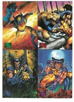 1995 MARVEL MASTERPIECES WOLVERINE - 4 CARD FLEER PROMO SHEET - LOGAN