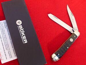 """Boker Germany 4"""" Black Bone 2 Blade Trapper Knife MINT IN BOX"""