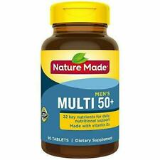 Nature Made Men's Multivitamin 50+ Tablets with Vitamin D, 90 Count 90