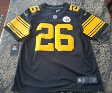 Nike Pittsburgh Steelers LeVeon Bell Color Rush Limited Jersey Authentic Sewn on