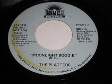 The Platters: Moonlight Boogie / Heaven On Earth 45 - HMC - Soul