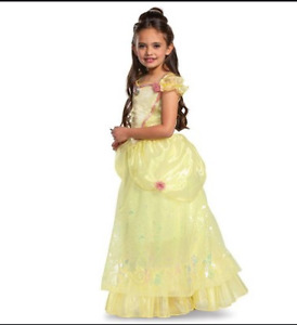 Disney Princess Belle Halloween Costume Dress Disguise Size Medium 7-8