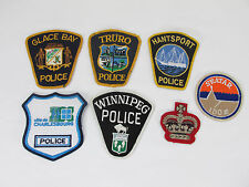 Canada Police Patch Glace Bay Truro Winnipeg Hantsport Lot Some Old defunct LOOK