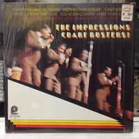 [SOUL/FUNK]~NM LP~The IMPRESSIONS~Chart Busters!~[1974 PICKWICK Compilation]~