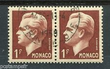 MONACO 1950-51, timbre 345, PRINCE RAINIER III, oblitéré, VF cancelled stamp