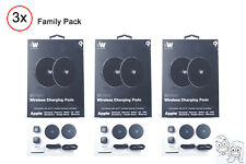 3 x Just Wireless 3 x 2 Pack 5W QI Certified Wireless Charging Pads - 6pcs Total