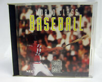World Class Baseball (TurboGrafx-16, Turbo Grafx) Game Disc Case & Manual