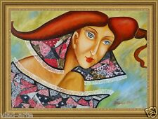 """Painting Original mixed media on canvas 18""""x13""""  Russian Modern Art by Pronkin"""