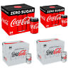 Coke Zero Sugar Diet Coke Pack of 24 330 ml Cans Fizzy Drink Coca-Cola Real