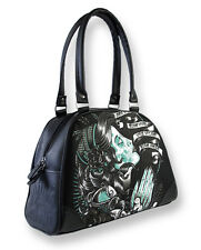 Liquorbrand Gypsy Sugar Skull Bowler Bag Gothic Rockabilly Handbag