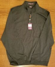 Martin Mens L/S Solid Dunes 1/4-Zip Pullover Dark Charcoal Msrp$95 Nwt Size Xl