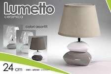 LAMPADA LUMETTO ABAT JOUR IN CERAMICA 24 CM COLORI ASSORTITI ORY-652103