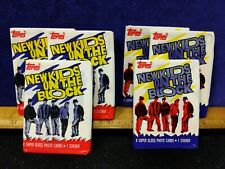 6X New Vintage Sealed Packs, New Kids On The Block Cards, Nkot,1989 Series 1,Nos