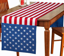 "8 FT American Flag Decor Table Runner Topper Americana USA Flag Farmhouse 97""x21"