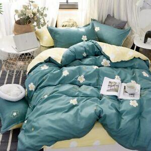 Christmas Tree Bedding Set Red Duvet Cover Flower Bed Set Bedclothes 3or 4pcs