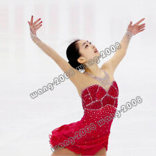 Red Marvellous Ice Skating Figure skating Dress Gymnastics Dance Costume Y049