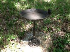 Oval Bird Bath with Bird Cast Iron