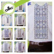 Cross Stitch Border Patterns for Men Shirt in Ukrainian Boho Style / EU