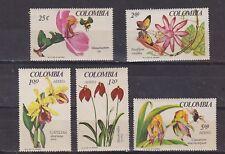 colombia 1967 Sc 768/9,C489/91 set,ochid,MNH          k917