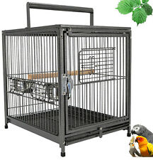 22� Portable Heavy Duty Travel Bird Parrot Carrier Cage Feeding Bowl Stand