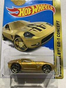 2016 Hot Wheels FORD SHELBY GR-1 CONCEPT in GOLD. (Special Edition) Long card.