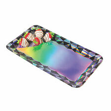 Black & Silver Iridescent Rectangle Serving Trays - Party Supplies - 3 Pieces