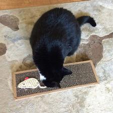 Kitten Scratch Board Pad Scratcher Cat Soft Bed Mat Claws Care Toy with Catnip