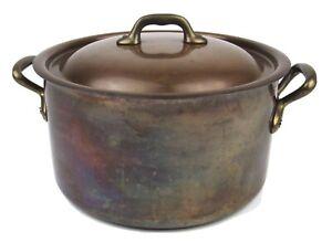 Mauviel M'Heritage for Williams Sonoma Copper Stock Stew Pot France