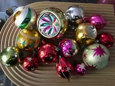 VINTAGE Assorted Glass Christmas Baubles