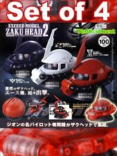 Bandai Gundam Exceed Model Zaku Head 2 Collection Gashapon Set (Set of 4)