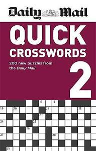 Daily Mail - Quick Crosswords 2  200 puzzles - FREE P&P