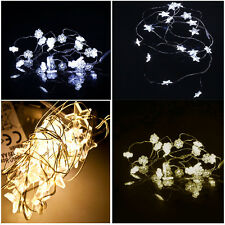 2M/5M Battery Operated Snowflake/Star Fairy String Light Decorative Xmas Garland