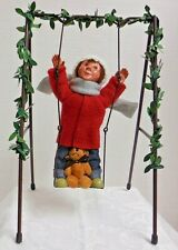 "Byers Choice Carolers Valentine ""Toddler Boy On Swing"" #1825 (2019) Nwt F/S"
