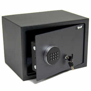 Wolf Digital Steel Safe Electronic High Security Home Office Cash Safety Box
