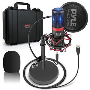 Pyle PDMIKT200 Pro Audio Recording Computer Desk Attached USB Microphone Kit