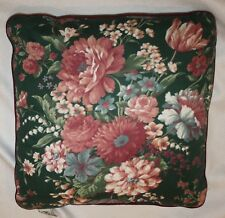 "Croscill Granada Green Floral Decorative Pillow Room Decor 17"" x 17"""