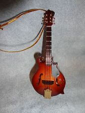 """LARGE MANDOLIN WITH HOOK  MUSICAL INSTRUMENT ORNAMENT 4"""""""