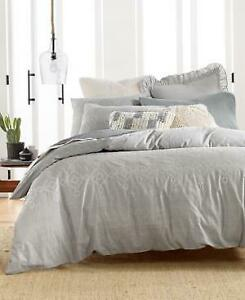 Lucky Brand Tile Seed Stitch Comforter Set Gray Twin/Twin