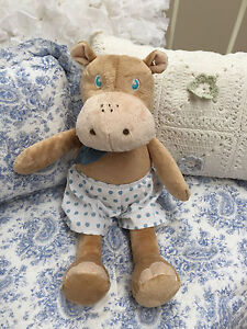 Baby Boy super soft Large Jiggle Giggle Toy Hippo