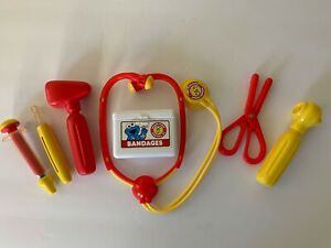 Sesame Street Doctor's Kit 1993 Vintage Medicine Toy Big Bird TYCO