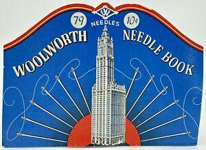 Vintage Woolworth Needle Book Sewing Needles West Germany Skyscraper
