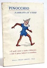 PINOCCHIO NARRATO IN VERSI - V. EMANUELE LARINI - EDITRICE IMAGO CHRISTI - 1967