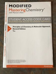 Principles of Chemistry: Molecular Approach, 2nd edition Access Code Card Etext