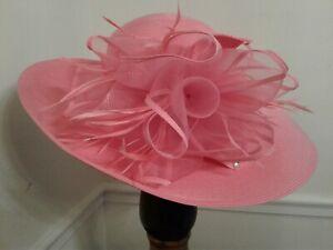 Women's Dress/Church/Wedding/ Kentucky Derby/Wide Brim Hat -Pretty Pink!