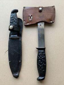 Vintage Colonial Camp Knife/Hatchet Set 1940's Providence USA