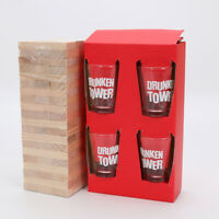 Fun party shots DRINKING tumbling tower game for large groups games nights