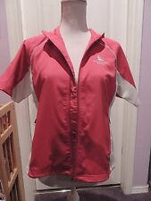 EXCELLENT WOMEN'S ADIDAS CLIMAPROOF SHORT SLEEVE GOLF JACKET EAGLE CREST SMALL S