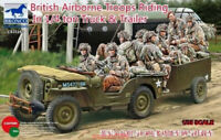 Bronco CB35169 1/35  British Airborne Troops Riding in 1/4 Ton Truck&Trailer Hot
