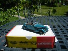 RARE  CREATION RD MARMANDE (FRANCE) 24 PEUGEOT 601 D Cabriolet 1935 bleu vert